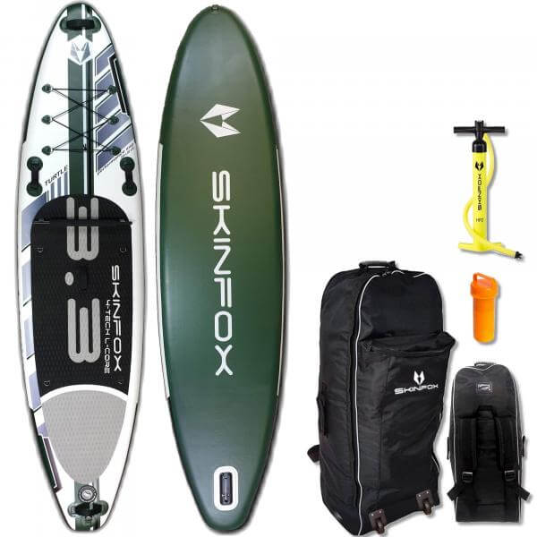 SKINFOX TURTLE CARBON-SET (335x80x15) 4-TECH L-CORE SUP Paddelboard gruen