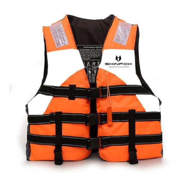 SKINFOX Schwimmweste Nylon (S-3XL) orange-weiss